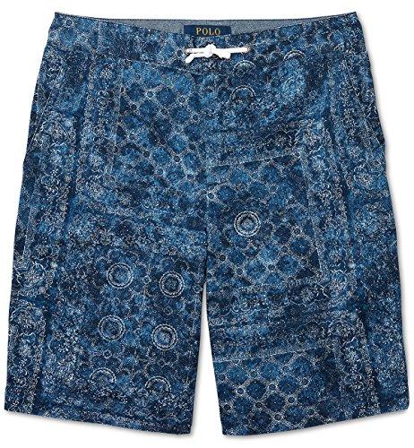 Ralph Lauren Boys Shorts (Ralph Lauren Little Boys Straight Cotton Twill Short, Indigo Paisley (2/2T))