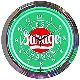 Last Chance Garage Neon Clock