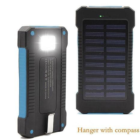 XZB Cargador solar Power Bank 20,000mAh Cargador portátil de ...