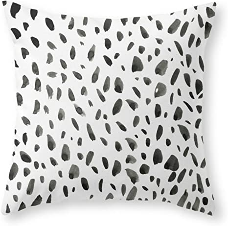 Amazon Com Sea Girl Soft Black Ink Abstract Random Background Hand Drawn Spotted Pattern On White Abstract Background Throw Pillow Indoor Cover Pillow Case For Your Home 18in X 18in Home Kitchen