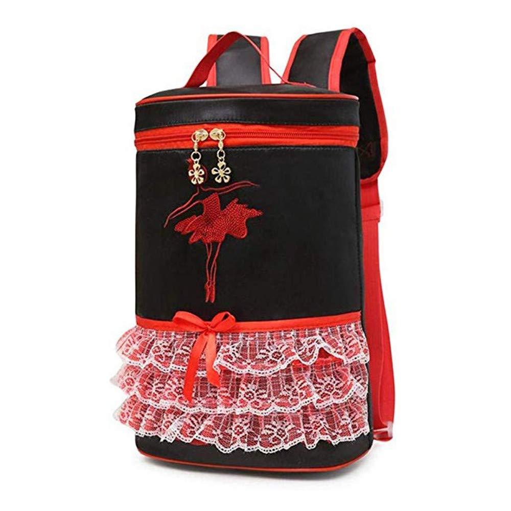Elegante Simplicidad Niños lindos Bolso de baile Niñas Ballet Mochila Bolso Princesa de los niños Bolso de la mochila Bolso de la danza latina Bolso para ...