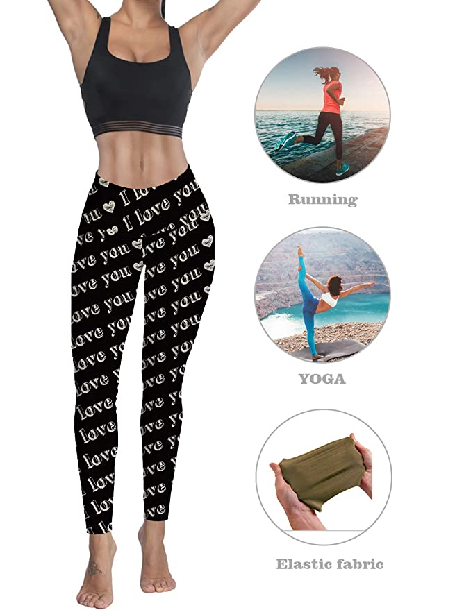 Custom Leggings Women High Waist Soft Yoga Workout Capris ...