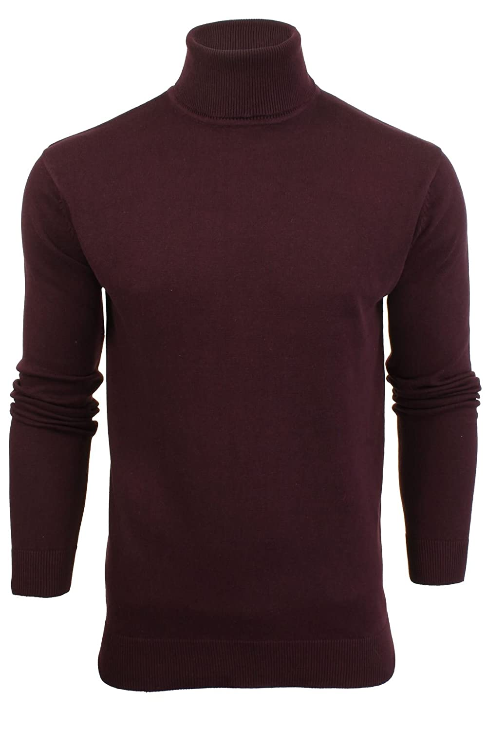 fcb23ef0f61 Mens Brave Soul Hume Designer Funnel High Roll Neck Cotton Knitted Jumper