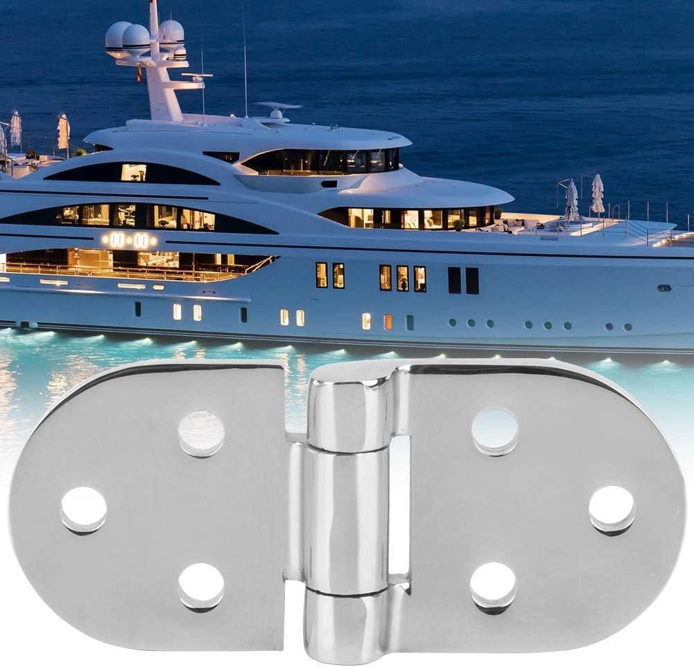 Alomejor Charni/ère de Bateau 4 Trous Charni/ère pour Porte de Maison Marine Bateau Yacht en Acier Inoxydable 316