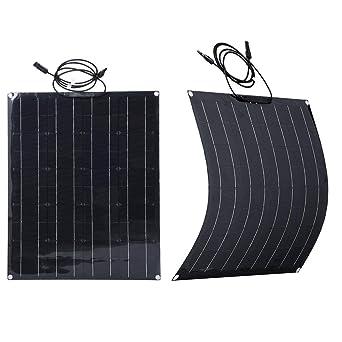 SWEEPID - Panel solar negro 50/60/80/100 W, 18 V, panel ...