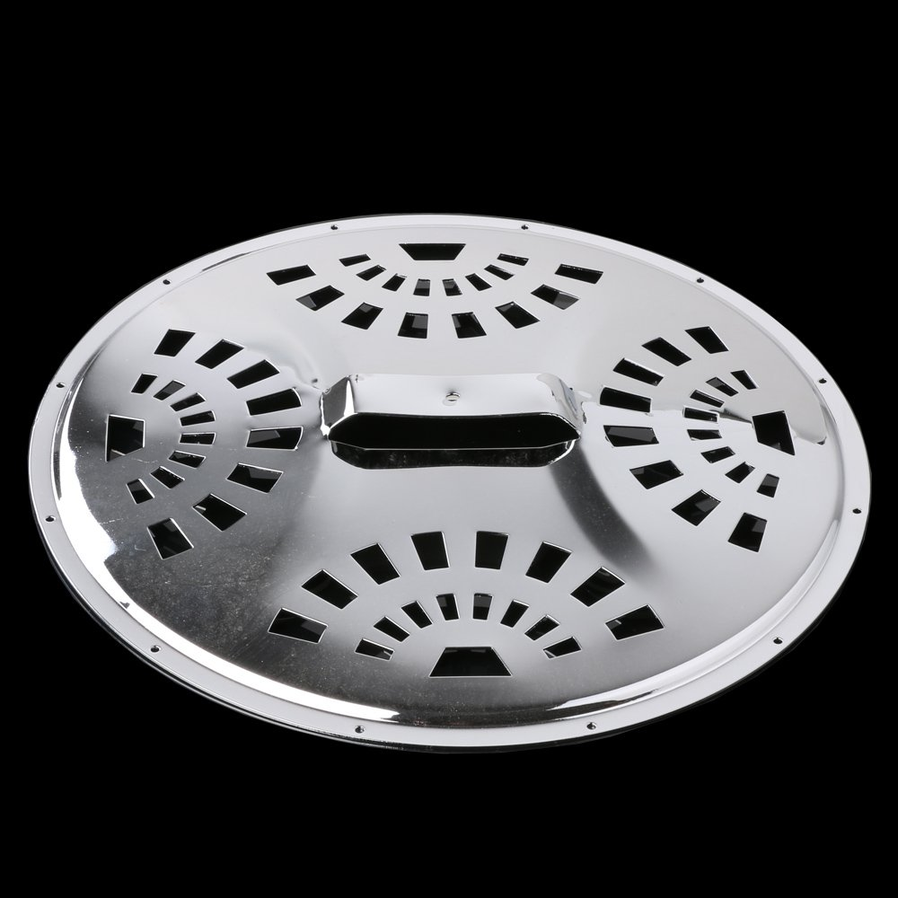 LYWS Chrome Plated 28x1.88mm 11'' Cover Plate Replacement Part for Dobro Resonator Guitar