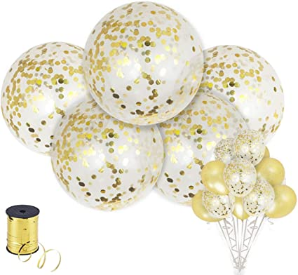 "EXTRA LARGE36/"" SILVER confetti filled transparent balloon.for xmas party wedding"