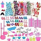 Zehui Juguete de Vestido Adornos Zapatos Accesorios para Muñeca Barbie,Moda Estilo Mixto como regalo para Chica-10PCS