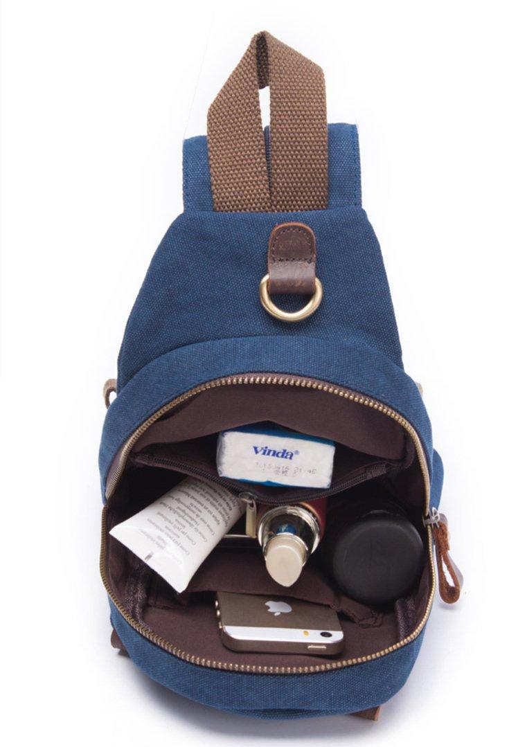 Amazon.com  DRF Canvas Sling Bag Chest Crossbody Bag Vintage Fit iPad BG-01  (Blue)  Computers   Accessories aaff0fdb164b8