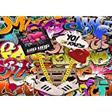 MengGeGe Photography Backdrop Hip Hop 80s 90s themed Party Decoration Photo Bacground 7x5ft