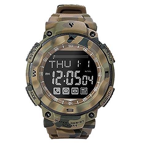 Homyl Reloj Digital Rastreador de Fitness Compatible con Sistema Android iOS Bluetooth - Camuflaje de selva