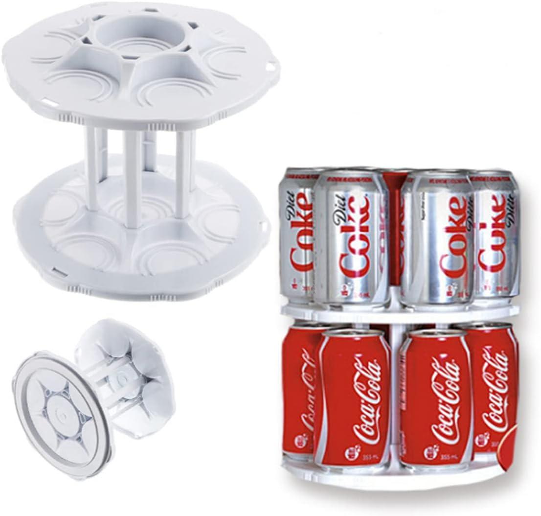 Hamnor Refrigerator Organizer Bins, Plastic Pop Soda Can Dispenser Holder Drink Water Beverage Dispenser for Fridge, Freezer, Pantry, Kitchen, Countertop and Cabinet