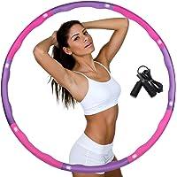 DUTISON Hula Hoop för viktminskning, däck med skumvikter justerbar bredd 48–88 cm tung Hula-hoop-däck för fitness med…