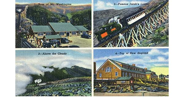 Lantern Press Montaña Blanca, NH – MT. Washington Opiniones; Escalera de Jacob, Papel, Multicolor, 36 x 54 Giclee Print: Amazon.es: Hogar
