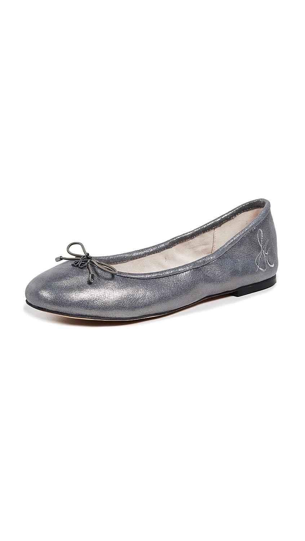 Dark Pewter Metallic Leather Spirit Metallic Leather Sam Edelman Women's Felicia Ballet Flat