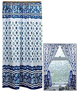 Amazoncom Home Fashions Under The Sea Shower And Window Curtain