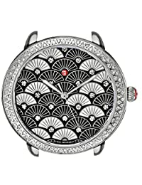 Michele Women's Serein 16 Diamond, Black Fan Diamond Dial Watch Black