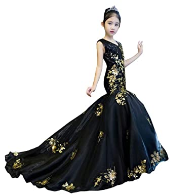 Black and Gold Pageant Dresses