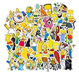 The Simpsons Laptop Stickers Vinyl - Waterproof Decal Water Bottle Skateboard Guitar Travel Phone Case Door Luggage Car Bike Bicycle (50 pcs) Removable Not Repeat