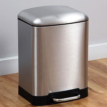 HYYDP Papeleras Bote de basura cuadrado Papelera de reciclaje individual para el baño del dormitorio de