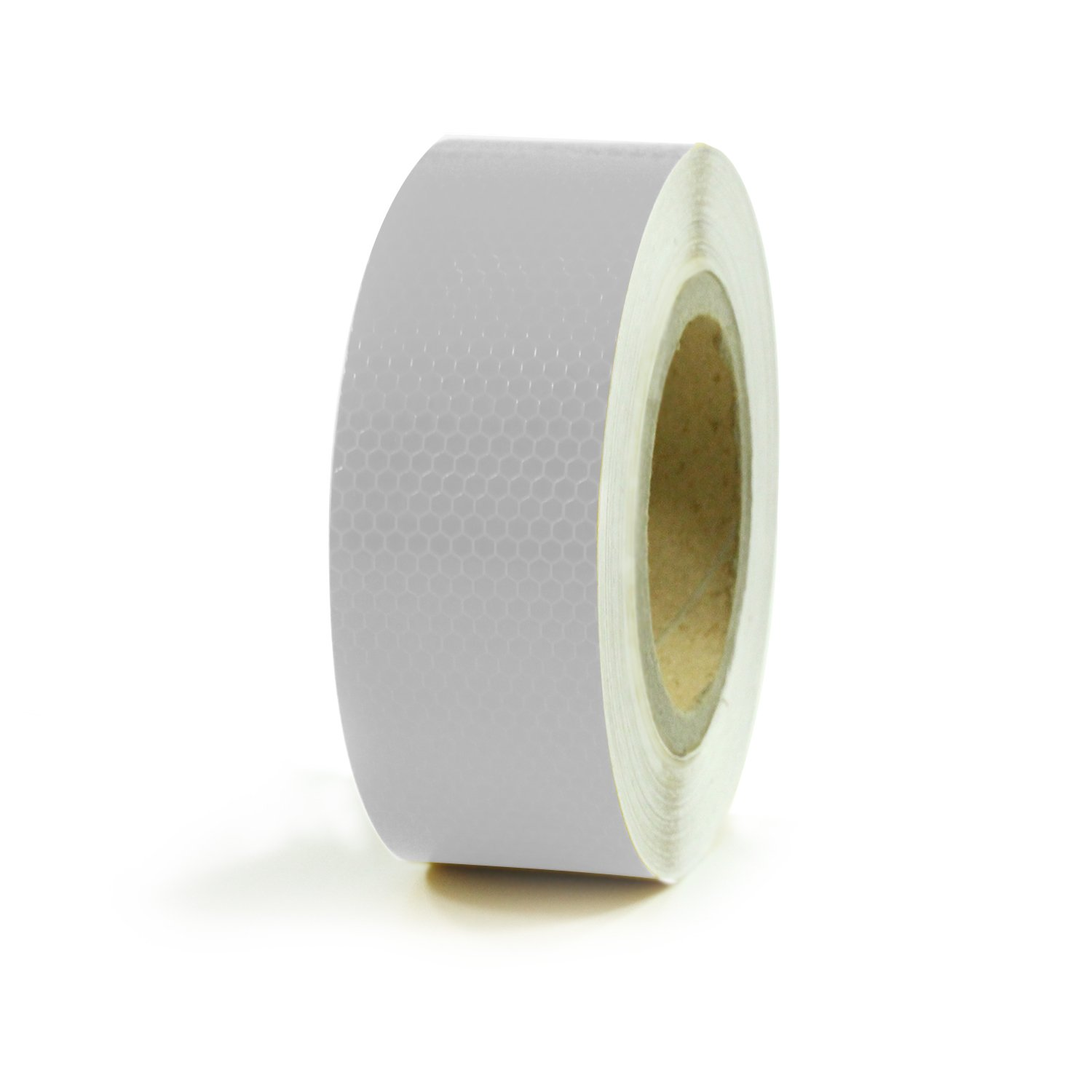 Abrams 2'' in x 150' ft Diamond Pattern Trailer Truck Conspicuity DOT Class 2 Reflective Safety Tape - White