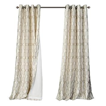 amazon com mysky home lined jacquard room darkening curtains living