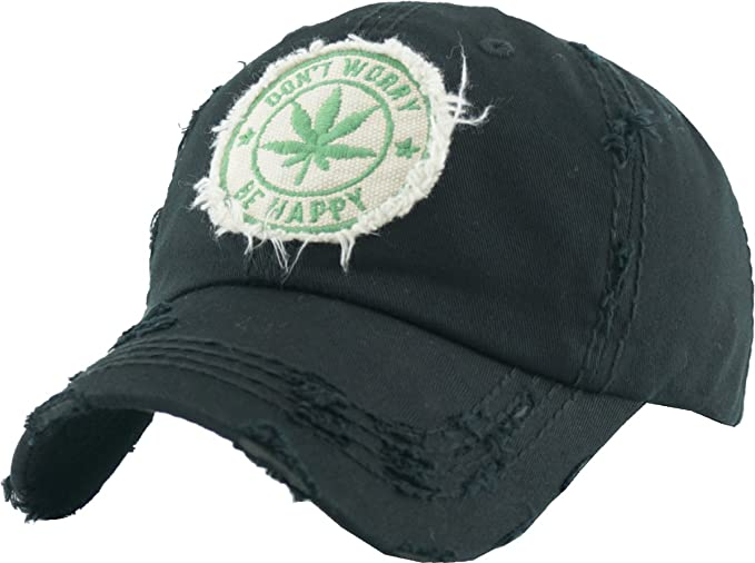 f61c0219955 KBVT-1062 BLK Marijuana Leaf Collection Dad Hat Baseball Cap Polo Style  Adjustable