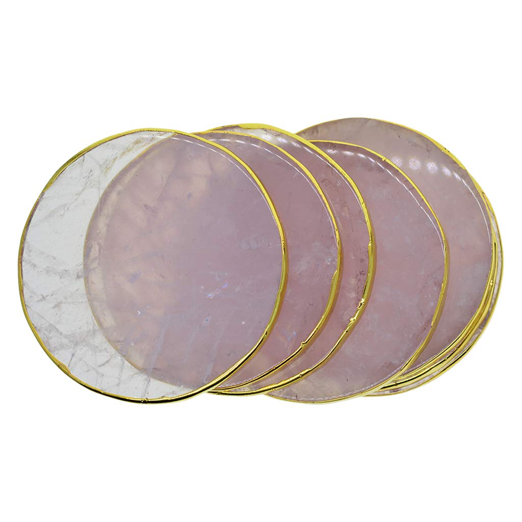 Baoblaze Natural Sliced Agate Slices Crystal Slice Pendant Jewelry Making Charms Large Size fit Bracelet Necklace Making Crafting Decorating DIY 2.7inch