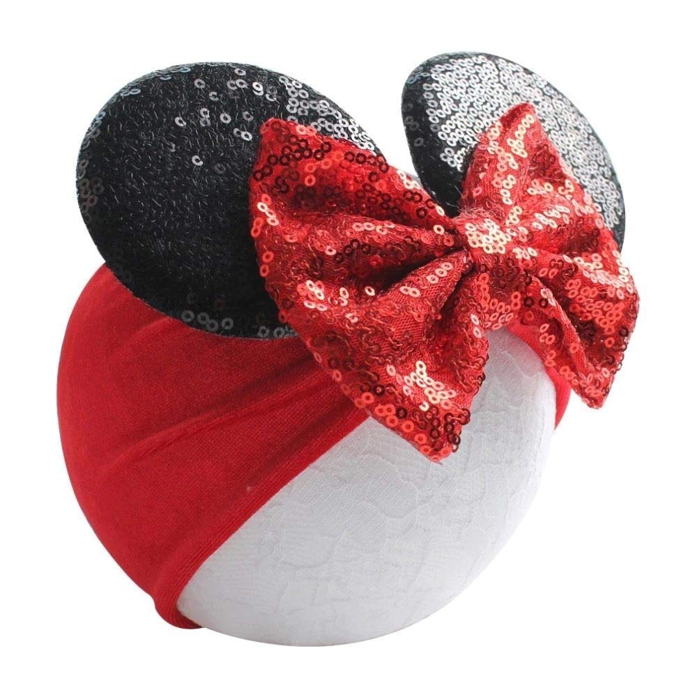 Minnie Mouse Girls Ear Muffs Red and Silver One Size