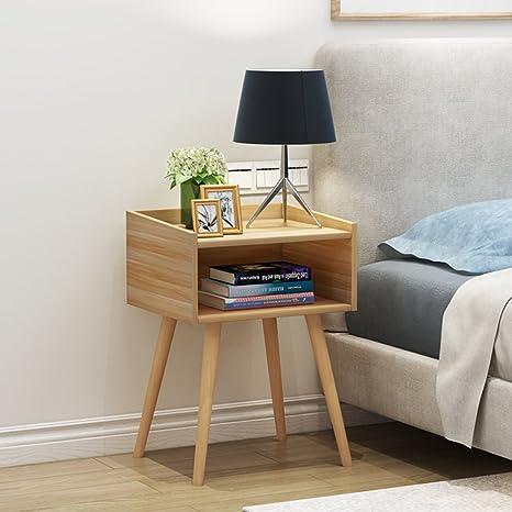 Stile giapponese comodino semplice Camera da letto bianco comodino ...