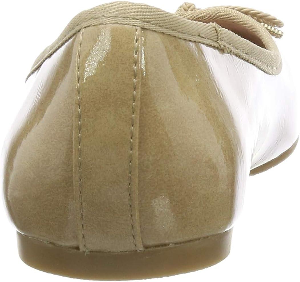 Tamaris 1-1-22123-22, Ballerines Femme Beige Nude Patent 253