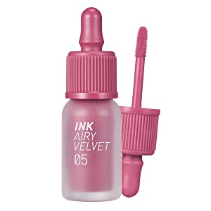 Peripera Ink Airy Velvet Lip Tint   High-Pigmentation, Lightweight, Soft, Moisturizing, Not Animal Tested   Genius Rosy Pink (#05), 0.14 fl oz