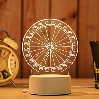 OGGID Lámpara de Nocturna Mesa Escritorio, 3D Luz de noche LED con ...