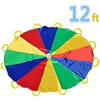Sonyabecca Paracadute, Play Tents Gioco per Bambini Paracadute Interno & All'aperto (12FT/20FT)