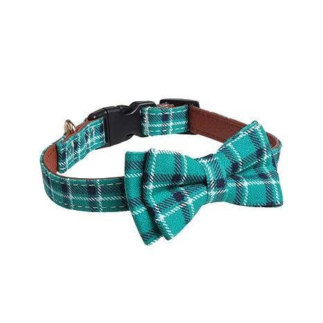 Daliuing Cuello del Arco de la Tela Escocesa Corbata para Mascotas ...