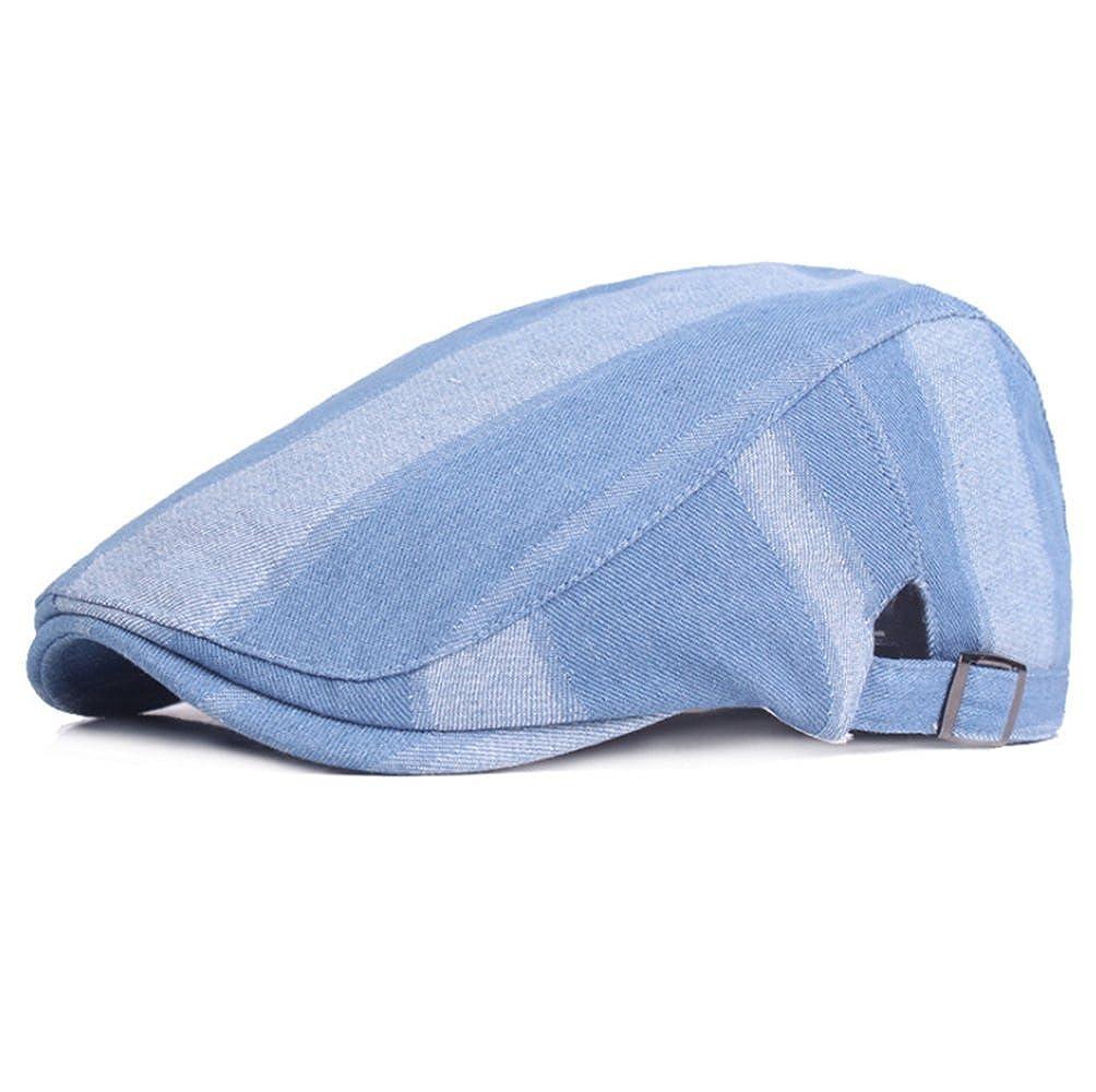 Demarkt Flatcaps Schieberm/ütze Schildmm/ütze Schirmm/ütze Golferm/ütze Kappe aus Denim Blau