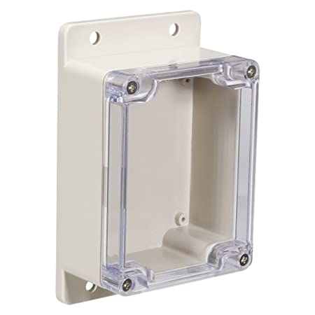 sourcingmap 115x90x55mm//4.53x3.54x2.17inch Wateproof Electronic ABS Plastic DIY Junction Project Box Enclosure Case Outdoor//Indoor with Clear Cover