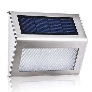 World Premium Edelstahl Solar Gartenleuchten - Super-Bright 30 Lumen ...