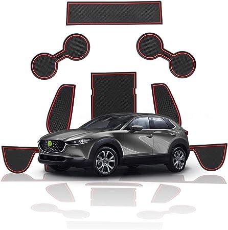 Taydmeo Auto Anti Rutsch Gummi Türnut Matte Für Mazda Cx 30 2019 2020 Auto Innenraum Staubdicht Slot Pad Zubehör 9st Sport Freizeit