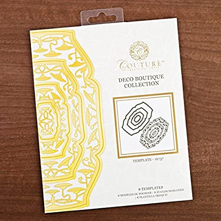 Create And Craft Couture Deco Boutique Die Cutter Templates Amazon