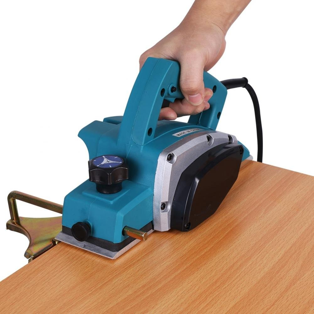 Electric Wood Hand Planer,110V Electric Wood Planer Door Plane Hand Held With 3-1/4 planer Woodworking Hand Surface by GOTOTOP (Image #7)