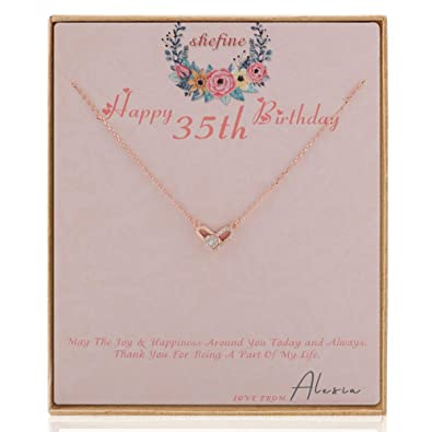 Amazon Shefine 35th Birthday Gifts For Women Deformable Heart Necklace Life Long Love Present Girls 1984 Gift Her Jewelry