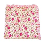 "Posh Peanut Baby Floral Blanket Toddler Soft Blankie with Satin Binding for Infants Toddlers & Kids for Use In Cribs, Strollers, Beds, Receiving and Laps, Makes the Perfect Gift (32"" by 32"")"