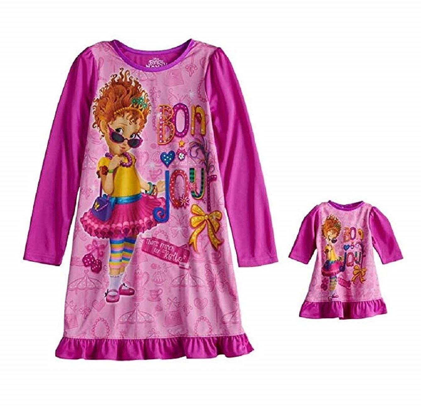 Girls Fancy Nancy Bon Jour Nightgown /& Doll Gown