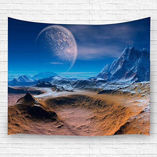 PDhome The Sun on the Desert Pattern Wall Tapestry ,Polyester Fabric Wall Art Hanging Home Decor,60