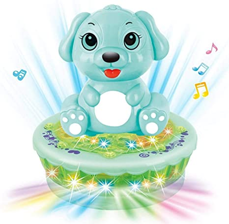 YENJOS Spinning Juguete Dibujos Animados Animales Flash Toys Luz ...
