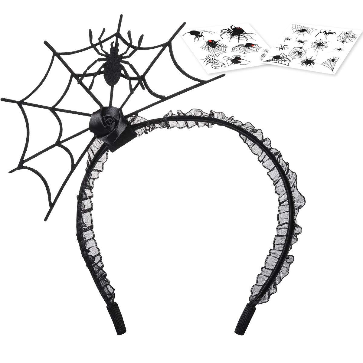 Halloween Spider Headband, Halloween Party Headband for Halloween party and Theme Party Halloween Hair Hoop