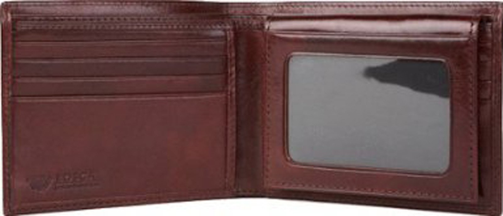 Bosca Men's Old Leather Credit Wallet with I.D. Passcase Billfolds,Dark Brown by Bosca