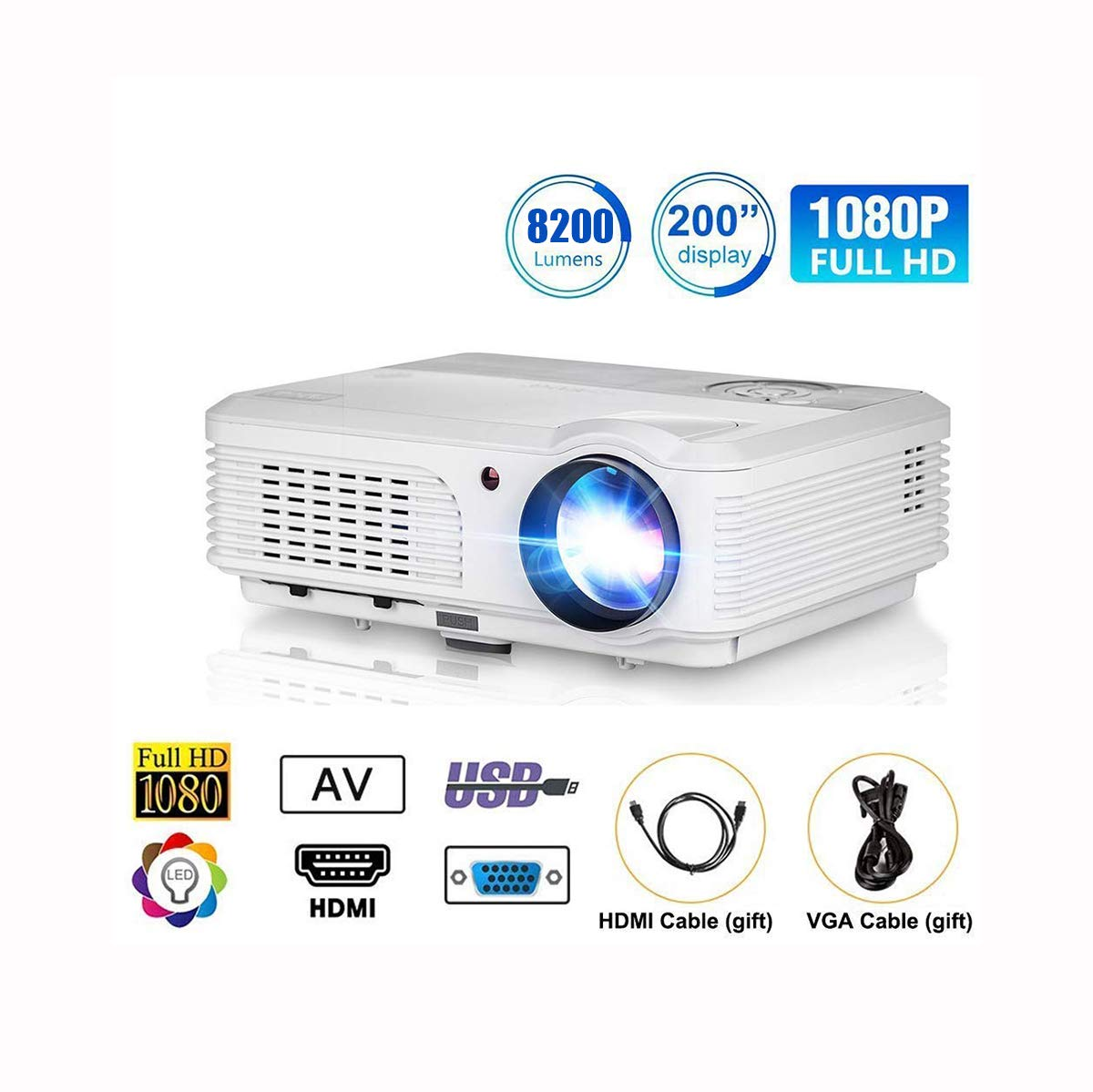 Ai LIFE Proyector Video proyector Proyector Multimedia LED LCD ...