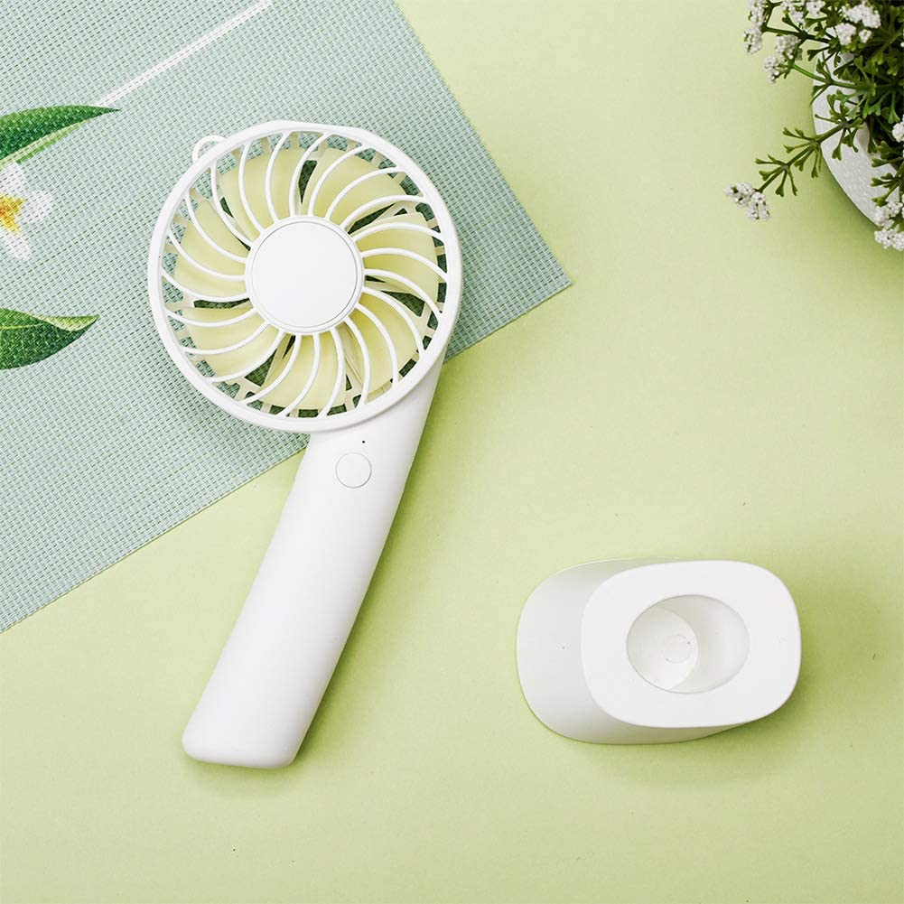 FAgdsyigao USB Mini Fan,Handheld Cooling Fan Summer Travel Office Adjust Angle 3-Mode Desk Cooler Green